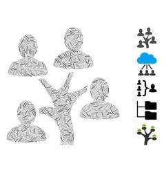 Hatch mosaic genealogy tree icon vector