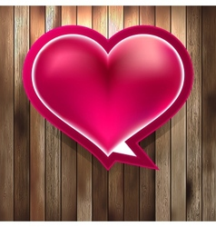 Heart on wood background EPS8 vector image
