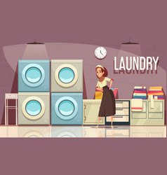 hotel laundry center background vector image