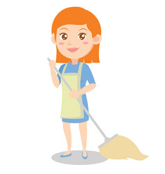 Housewife style design character cartoon vector