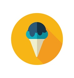Ice Cream flat icon Summer Vacation vector image