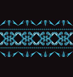 Indigo ornate moroccan ornament seamless vector
