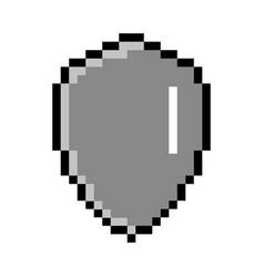 isolated pixelated heraldry shield icon vector image