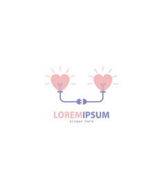 make up couple design logo vector image