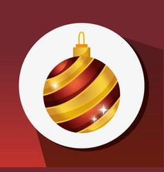 Merry christams ball decoration design vector