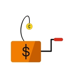 Modern flat icon economic logo on white background vector