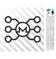 Monero masternode links flat icon with bonus vector