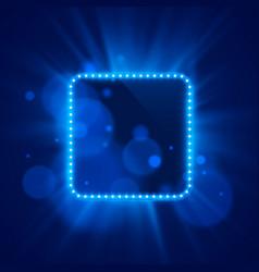 neon frame light color blue vector image