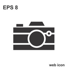 Photo camera icon or snapshot sign vector