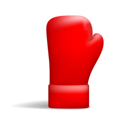 red boxing glove icon realistic style vector image