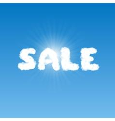 Sale shape clouds vector image
