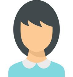School teacher avatar icon flat isolated vector