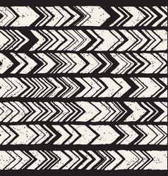 Seamless hand drawn style chevron pattern in black vector