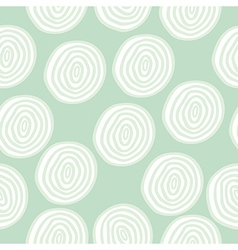 seamless pattern with doodle circles vector image
