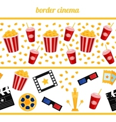 Sinema elements background border seamless vector image
