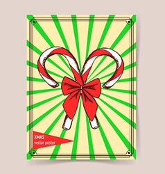 Sketch Chrismas candy vector
