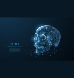 skull abstract polygonal skeleton skull vector image