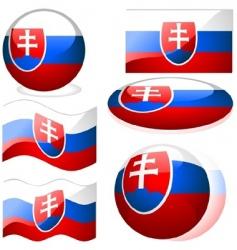 slovakia flags vector image