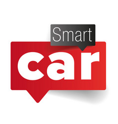smart car - internet of things vector image