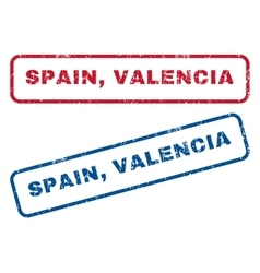 Spain Valencia Rubber Stamps vector image