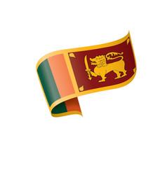 Sri lanka flag on a white vector