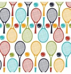 Tennis sport rackets emblem vector
