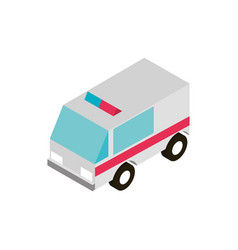 transport ambulance emergency vehicle isometric vector image