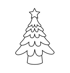 Tree christmas related icon image vector