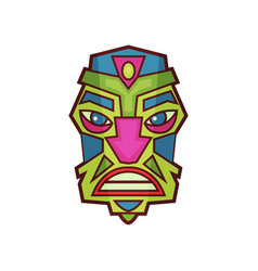 tribal indian or african masks vector image