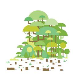 Tropical deforestation vector