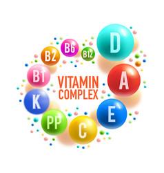 Vitamin pill or multivitamin complex banner design vector