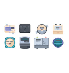 water meters gas and liquids measurements control vector image