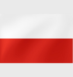 wavy flag poland for site sports travel state vector image