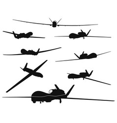 weapon drones set vector image