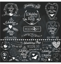 Wedding decor elements setLabelscards vector image