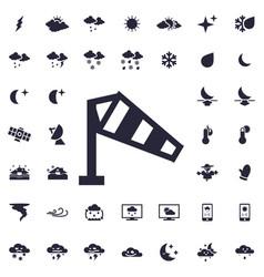 wind measurement icon vector image