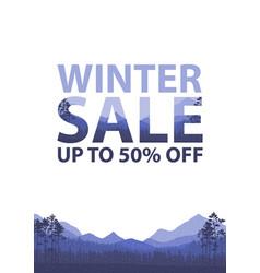 winter sale words on beautiful christmas flat vector image