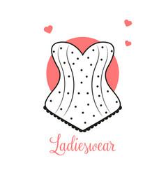 Women fashion logo design template lingerie emblem vector