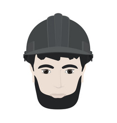 working man in gray hard hat vector image