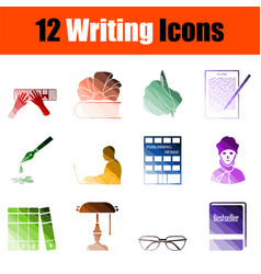 Writing icon set vector