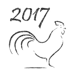 Chinese Calligraphy - 2017 Year of Rooster vector image vector image