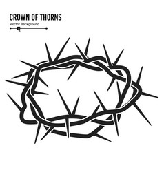 crown of thorns silhouette of a crown of thorns vector image