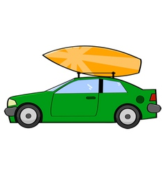 Surfer car vector image vector image