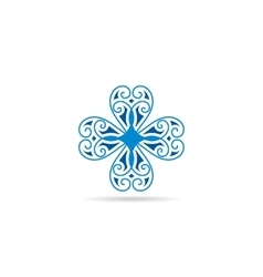 blue geometrical symbol or logo for vector image vector image
