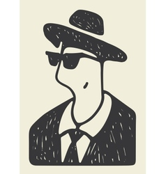 cool man vector image