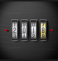 happy new year 2018 shining clock counter vector image vector image