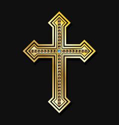 orthodox christian cross vector image vector image