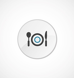 restaurant icon 2 colored vector image