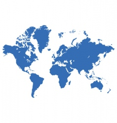 world map live traced vector image vector image