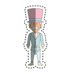 Circus ceremony master icon vector
